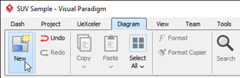 Create New Diagram form toolbar