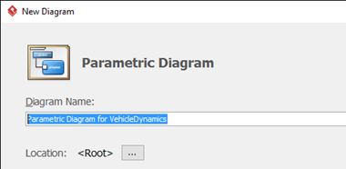 Name your parametric diagram