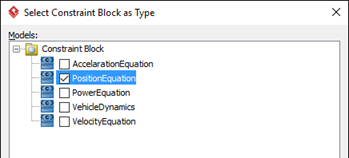 Select Constraint Block