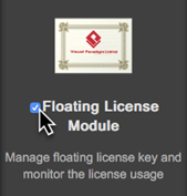 Select floating license module