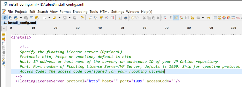 Configure to install Visual Paradigm without floating license server