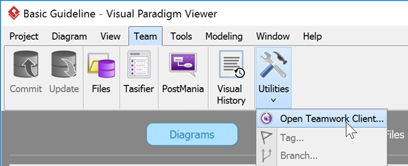 open teamwork client - Visual Paradigm Viewer