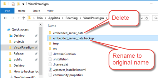 How to backup local personal repository - Visual Paradigm Know-how