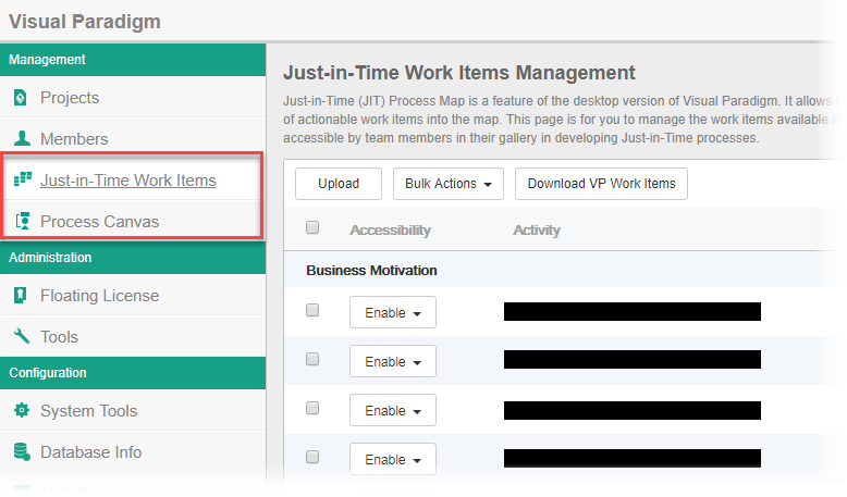 Upload Work Items definition