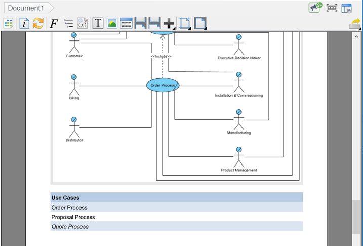All use case diagrams in project and its use cases are being generated to document