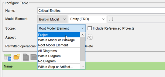 Select entire project as the query scope