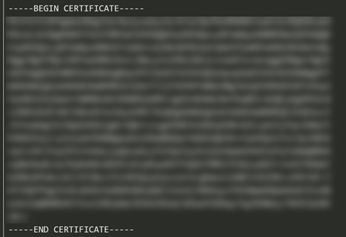 One of the SSL Certificate from your VP Online workspace