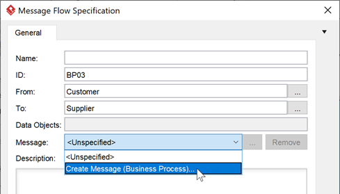 Create (or select) message