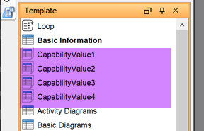 Repeat to create template for all capability values