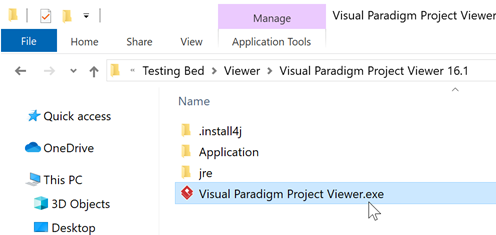 Launch Visual Paradigm Project Viewer