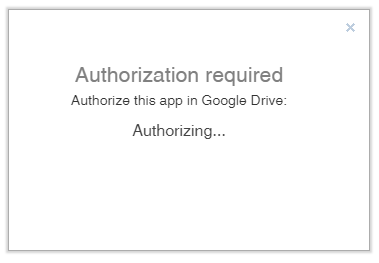 Authorization with Google Drive was getting stuck