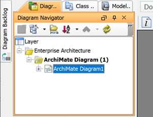 Select diagram in Diagram Navigator